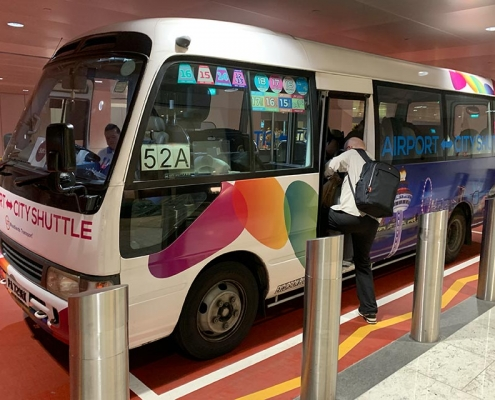 Changi Airport - Shuttle to City Hotels