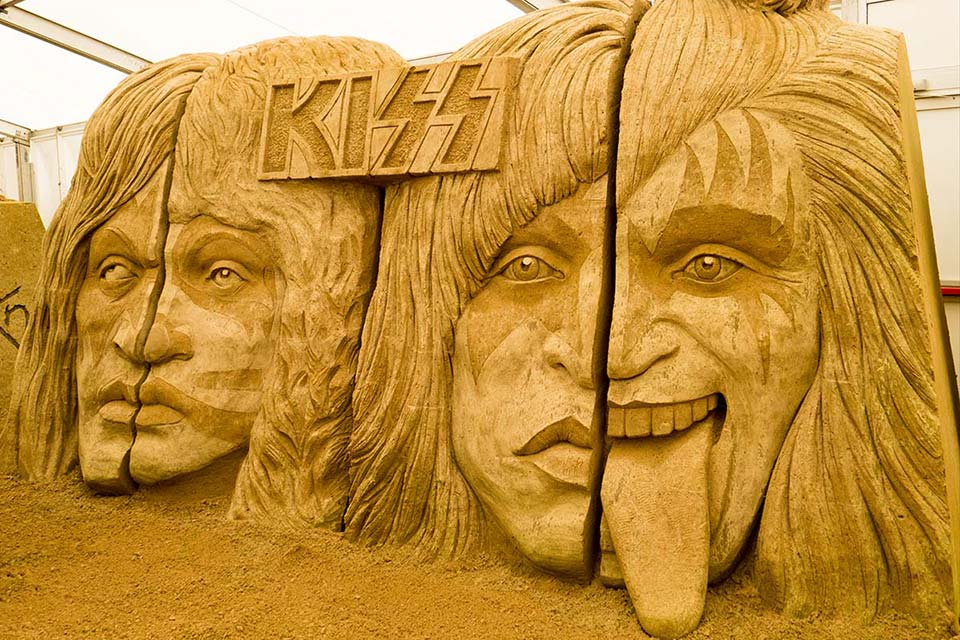 Sandskulpturen Binz - KISS