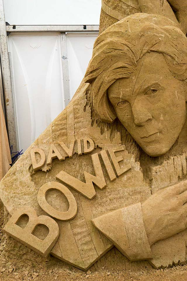 Sandskulpturen Binz - David Bowie